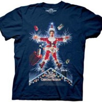 Christmas Vacation Movie Poster Illustration Adult Navy T-Shirt - National Lampoon's Christmas Vacation -   TV Store Online