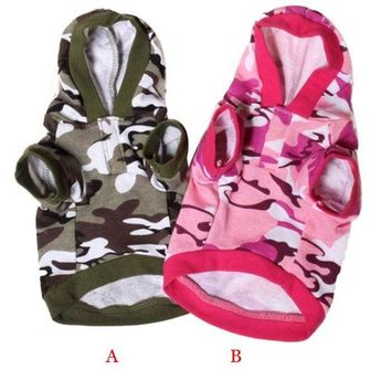 DCCKH6B My House Creative Hot! New Dog Clothing Pet Sweatshirt Camo Camouflage Coats Hoodies Costume Drop Shipping Sep6