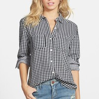 Junior Women's BP. Double Layer Gingham Shirt,