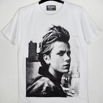 River Phoenix River Jude Phoenix Stand by Me Actor Unisex Cotton White T-Shirt S-XXL