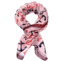 Anchor Print Rectangle Scarf