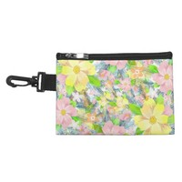Colorful flower pattern accessory bag