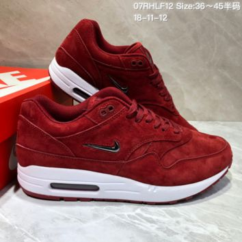 KUYOU N784 Nike Air Max 1 Jewel Premium Max 87 Retro Running Shoes Red