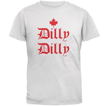 Dilly Dilly Canada Day Flag Maple Leaf Mens T Shirt