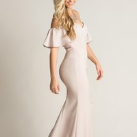 Kenley Blush Off the Shoulder Maxi Dress