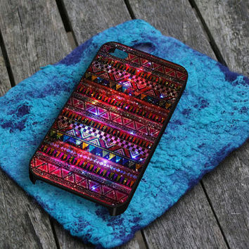 Aztec Galaxy Nebula 2 iPhone 5 iPhone 4 / 4S Plastic Hard Case Soft Rubber Case