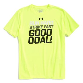 Boy's Under Armour 'Run Strike Goal' HeatGear Graphic T-Shirt,