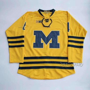 Cutler Martin #4 University of Michigan Wolverines Stitched Hockey Jersey