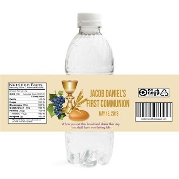 Sacrament Communion Water Bottle Labels
