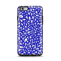 The Royal Blue & White Floral Sprout Apple iPhone 6 Plus Otterbox Symmetry Case Skin Set