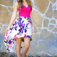 Spoil Yourself Dress: Magenta | Hope's