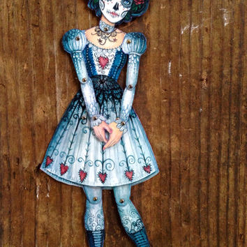 Jointed Day of the Dead Calavera Catrina Paper Doll Kit