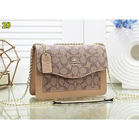Coach Fashion Women Shopping Leather Satchel Crossbody Shoulder Bag 2#