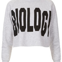 Biology Crop Sweat By Tee And Cake
