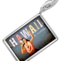 "FotoCharms ""Hawaii vacation,Vintage"" - Charm with Lobster Clasp For Charms Bracelet. Handmade in Germany: Jewelry: Amazon.com"