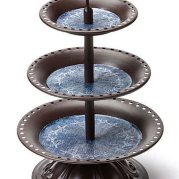 Perched Bird Tiered Jewelry Holder