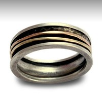 Sterling silver integrated 9K rose and yellow gold by artisanlook