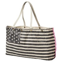 Mossimo Supply Co. American Flag Canvas Tote - Black