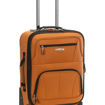 "F2281-ORANGE Pasadena 19"" Expandable Spinner Carry On Luggage Set"