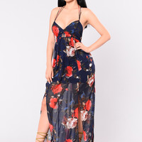 Look At Me Now Dress - Navy