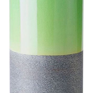 Stoneware Bottle Md Green & Gray