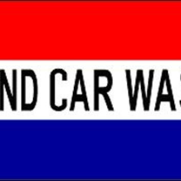 Hand Car Wash 3'x5' Polyester Flag Banner Sign