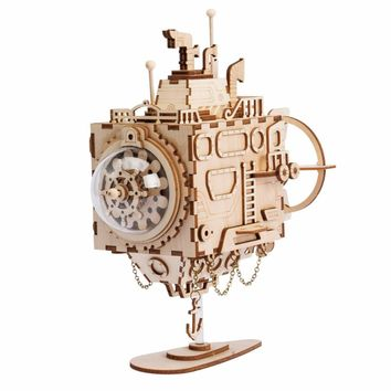 Robotime 3D Puzzle DIY With Movement Assembled Model Wooden for Children Music Box Submarine AM680---NEW!!!