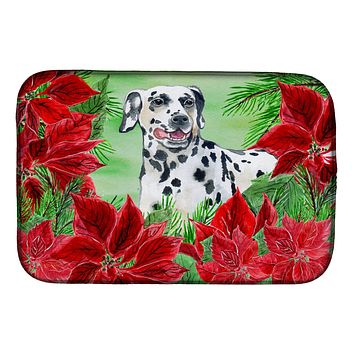 Dalmatian Poinsettas Dish Drying Mat CK1301DDM