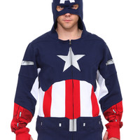 Marvel Universe Captain America Zip Hoodie | Hot Topic