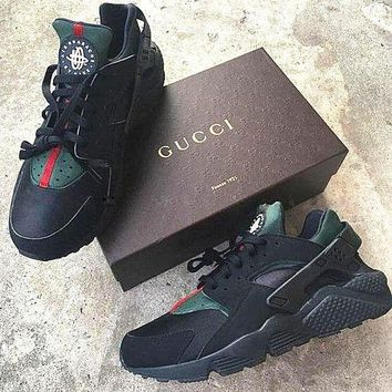 NIKE Custom Gucci Huaraches Women Breathable Running Sport Sneakers Shoes