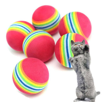 Colorful Soft Foam Rainbow Play Balls