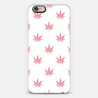 Coral Peach Cannabis Pot leaf Pattern iPhone 6 case by Rex Lambo | Casetify
