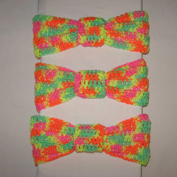 Flash Sale CYBER MONDAY Colorful Neon Knotted Headband For cold winter nights colorful
