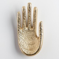 Gold Hamsa Hand Ring Holder