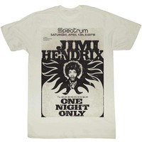 Jimi Hendrix Retro At The Spectrum Mens Tee Shirt