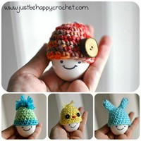 Just Be Happy — Egg Hats (Cozies)