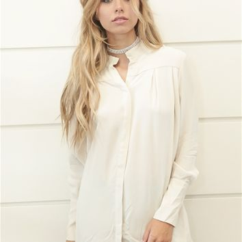 Just Female Seline Shirt in Off White