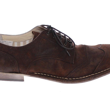 Dolce & Gabbana Brown Leather Laceup Wingtip Shoes