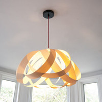 Wooden Daisy Pendant Lampshade