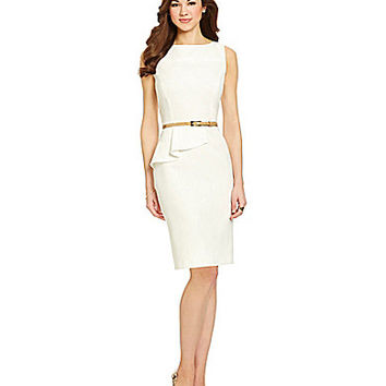 Antonio Melani Playing Favorites Tiago Crepe Belted Dress - Orchid