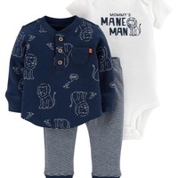 3-Piece Lion Bodysuit & Tee Set