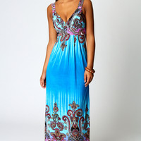 Mina Tie Back Maxi Dress