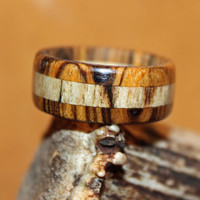 Wood Ring, Bocote and Spalted Maple
