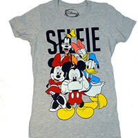 Disney Mickey Minnie Gang Selfie Juniors T-shirt