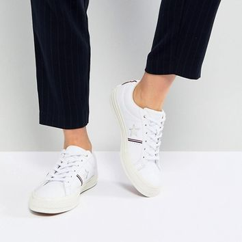 Converse One Star Ox Trainers With Off White Sole at asos.com