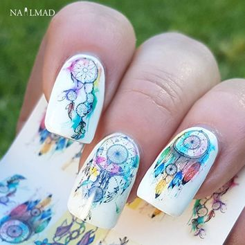 12sheets/pack Dreamcatcher Nail Water Decals Feather Nail Art Water Decals Nail Transfers Sticker Water Slide