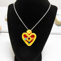 Sailor moon sailormoon cosmic heart compact locket necklace sailor moon jewelry