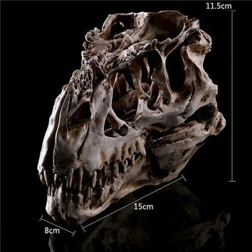 Skull Skulls Halloween Fall Resin Crafts Dinosaur Tooth  Fossil Teaching Skeleton Model Halloween Home Office Halloween Decoration Calavera
