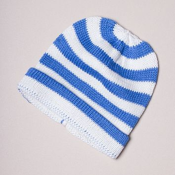 Estella Striped Organic Cotton Baby Hats 0–6M