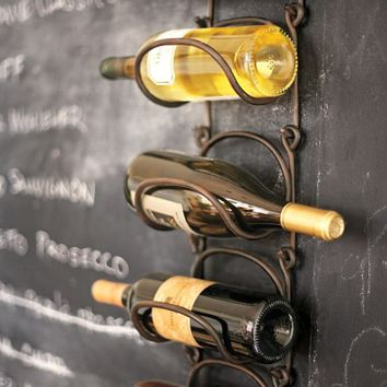 SINGLE WALL MOUNT MODULAR WINE RACK